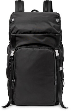 Prada Saffiano Leather-Trimmed Nylon Backpack