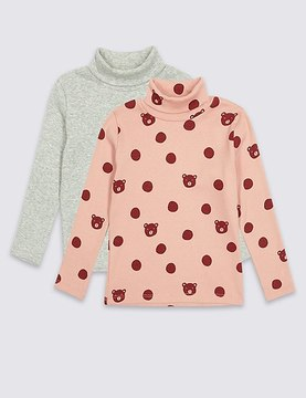Marks and Spencer 2 Pack Cotton Rich Tops (3 Months - 6 Years)