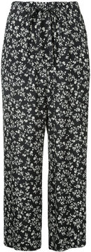 ESTNATION floral print wide leg trousers