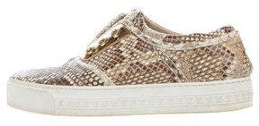Louis Vuitton Python Low-Top Sneakers