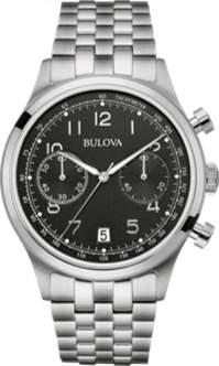 Bulova Classics Collection 96B234 Silver/Black Analog Quartz Men's Watch