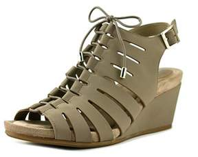 Giani Bernini Carisaa Open Toe Synthetic Wedge Sandal.
