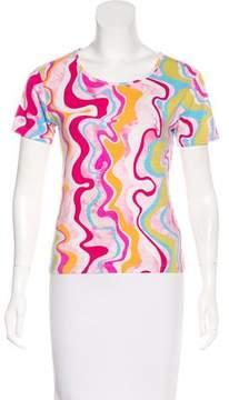 Cacharel Printed Short Sleeve Top