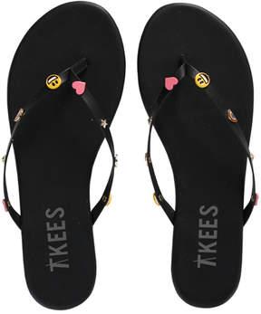 TKEES Trove Emoji Leather Sandal