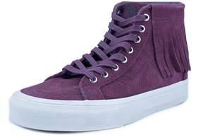 Vans SK8 Hi Moc Women US 7 Burgundy Sneakers