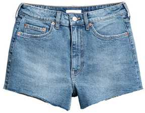 H&M High Waist Denim Shorts