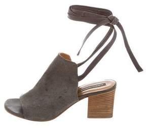 Alberto Fermani Suede Ankle-Strap Sandals