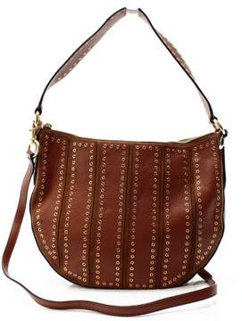 Michael Kors MICHAEL Suede Medium Dark Caramel Convertible Hobo Handbag - DARK CARAMEL - STYLE