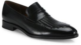 Fratelli Rossetti Leather Hand-Woven Loafers