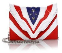 Elena Ghisellini Felina Mignon Stars & Stripes Small Leather Crossbody Bag