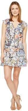 Adelyn Rae Lydia Woven Printed Frill Dress Women's Dress