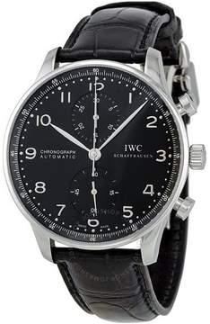 IWC Portuguese Automatic Chronograph Black Dial Men's Watch 3714-47