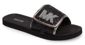 MICHAEL Michael Kors Girl's Eli Glow Glitter Slide Sandal