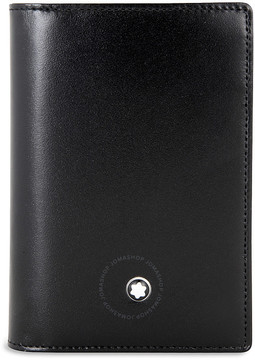 Montblanc Business Card Gusset Leather Wallet - Black