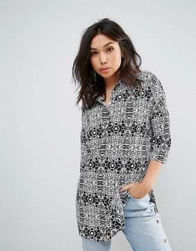Noisy May Maci Animal Print Shirt