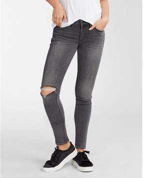 Express mid rise washed stretch jean leggings