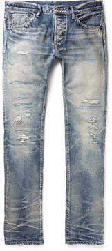 Co Fabric-Brand & Emmet Slim-Fit Distressed Selvedge Denim Jeans