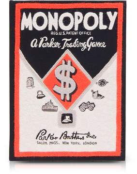 Olympia Le-Tan Olympia Le Tan Cotton and Wool Monopoly Parker Trading Game Book Clutch