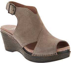 Dansko Leather Wedge Covered Sandals - Vanda