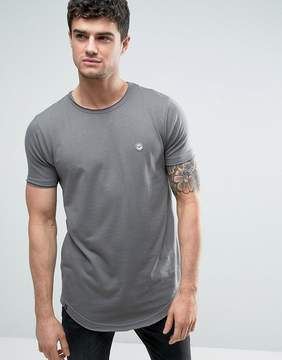 Le Breve Raw Edge Longline T-Shirt