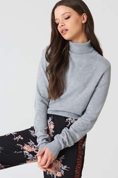 NA-KD Na Kd High Neck Light Knitted Sweater