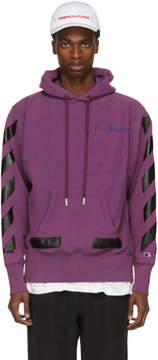 Off-White Purple Champion Reverse Weave Edition Hoodie