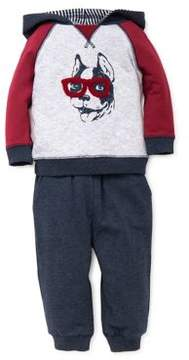 Little Me Baby Boy's Two-Piece Dog Inspire Hoodie and Sweatpants