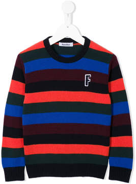 Familiar striped crew neck sweater