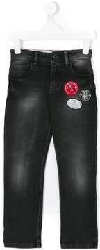 Little Marc Jacobs appliqué patch denim jeans