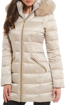 Antonio Melani Puffer Jacket with Real Fur Trim
