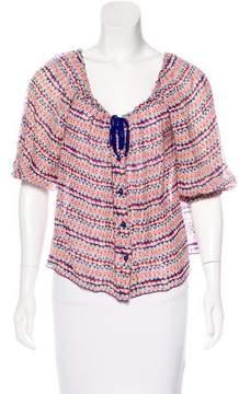 Anna Sui Silk Short Sleeve Top