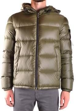 Peuterey Men's Green Polyamide Down Jacket.