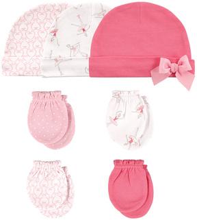 Hudson Baby Pink Ballerina Beanie & Mittens Set