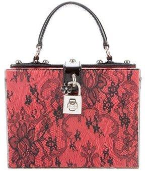 Dolce & Gabbana Plexi & Lace Bag - BLACK - STYLE