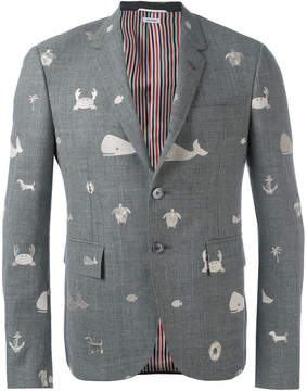 Thom Browne sea embroidered blazer