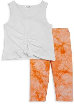 Splendid Girls' Ruched Tank & Tie-Dyed Leggings Set - Little Kid