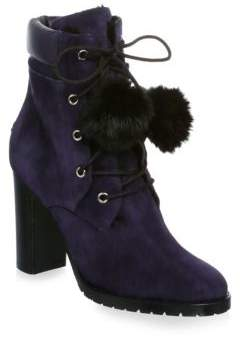 Jimmy Choo Elba Suede and Rabbit Fur Boots