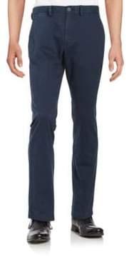 Black & Brown Straight-Leg Chino Pants
