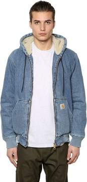 Carhartt Hooded Stone Washed Active Denim Jacket