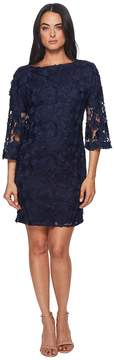 Badgley Mischka Lace Bell Sleeve Dress Women's Dress