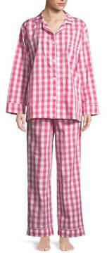 BedHead Gingham Classic Long Pajama Set, Plus Size
