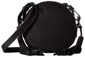 AllSaints The Kepi Leather Round Crossbody