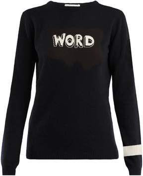 Bella Freud Word-intarsia wool sweater