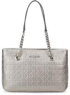 Karl Lagerfeld Quilted Leather Tote Bag