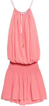 Melissa Odabash Tasha Shirred Voile Mini Dress