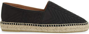 Maje Quilted Art Deco leather espadrilles