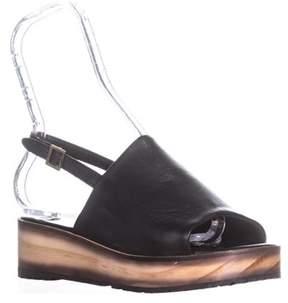 Kelsi Dagger Brooklyn Dumont Slingback Platform Sandals, Black.