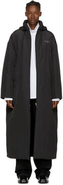 Balenciaga Black Kering Padded Raincoat