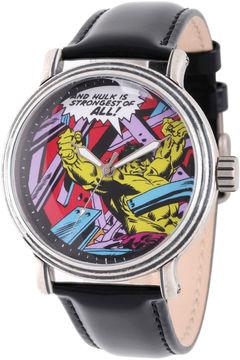 Marvel Comics Mens Black Strap Watch-Wma000051