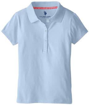 U.S. Polo Assn. USPA Short-Sleeve Stretch Knit Polo - Preschool Girls 4-6x